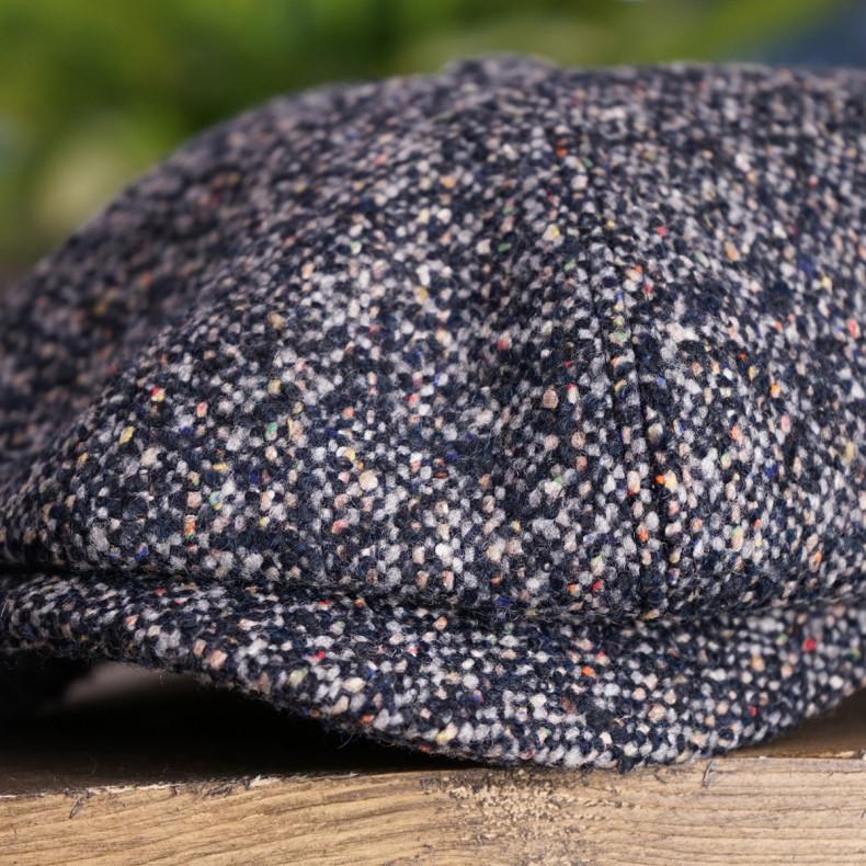 Классическая кепка Zefear Восьмиклинка ZF33802 Ferrara Сине-серый Твид Мульти