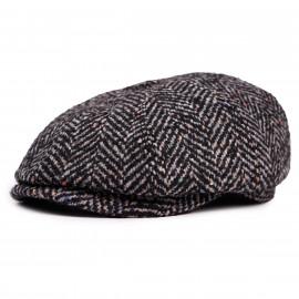 Классическая кепка Zefear Восьмиклинка ZF33802 Ferrara 2 - Черно-серый Твид Елочка