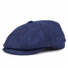Классическая кепка Zefear Восьмиклинка ZF33802 Светло-синий твид в клетку