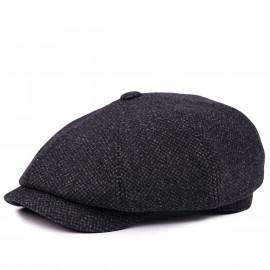 Классическая кепка Zefear Восьмиклинка ZF33804 Ovar - Черный Твид