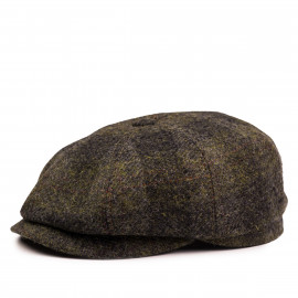Классическая кепка Zefear Восьмиклинка ZF33802 Shetland V -Тёмно-зеленая Клетка