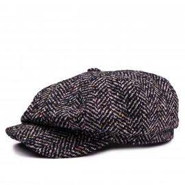Классическая кепка Zefear Восьмиклинка ZF33809 Американка Ferrara 2 - Серый Твид Елочка