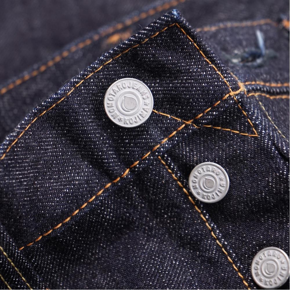Momotaro Jeans 15.7oz Zimbabwe Cotton HT Denim - blue